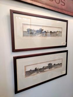 Ernest Rost Framed Etchings