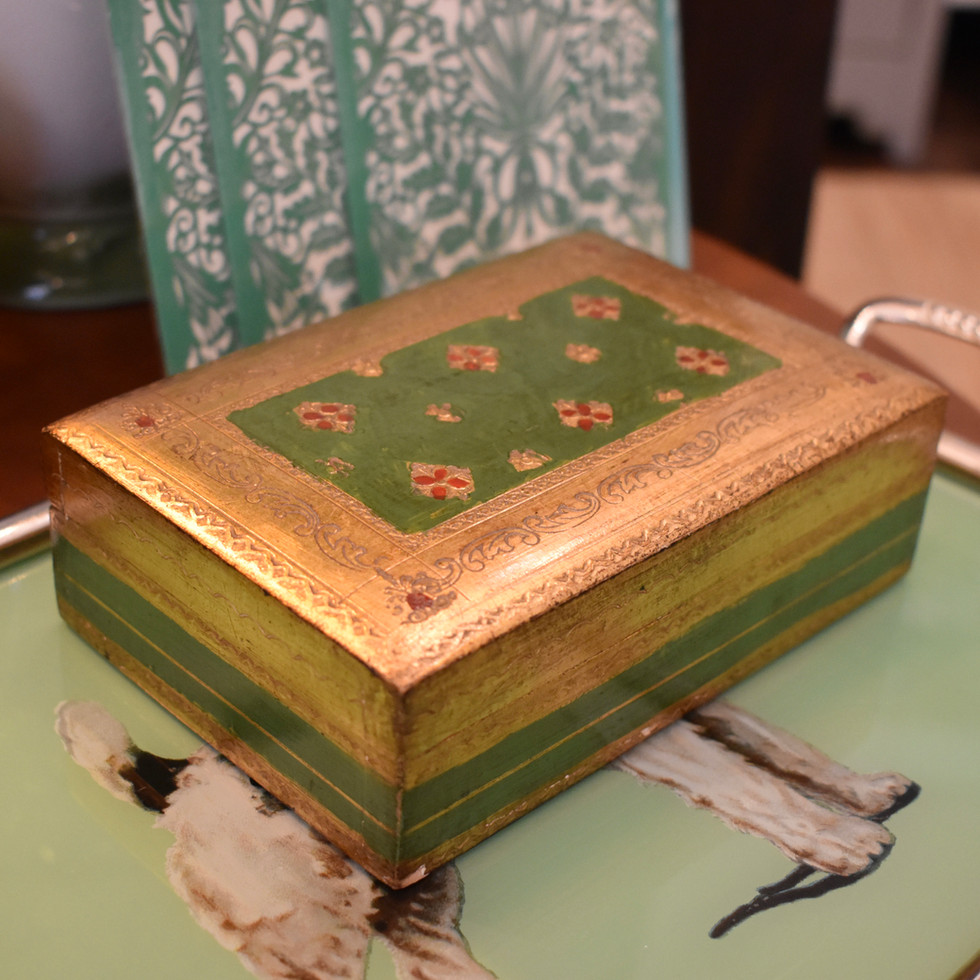 Handpainted Wooden Box
