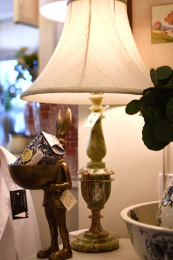 Vintage Green Marble Lamp