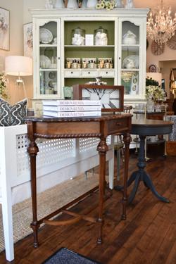 Vintage Restored Demi Lune Table