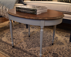 Oval Coffee Table with Painted Base