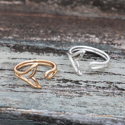 Whale Ring Silver & Gold