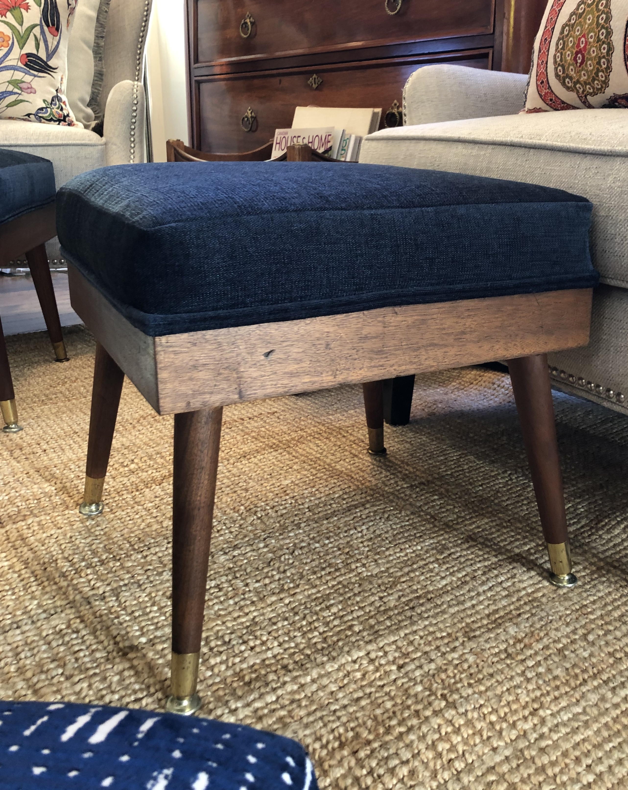Fully Refinished MidCentury Footstool