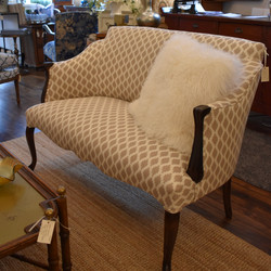 Newly Upholstered Vintage Settee