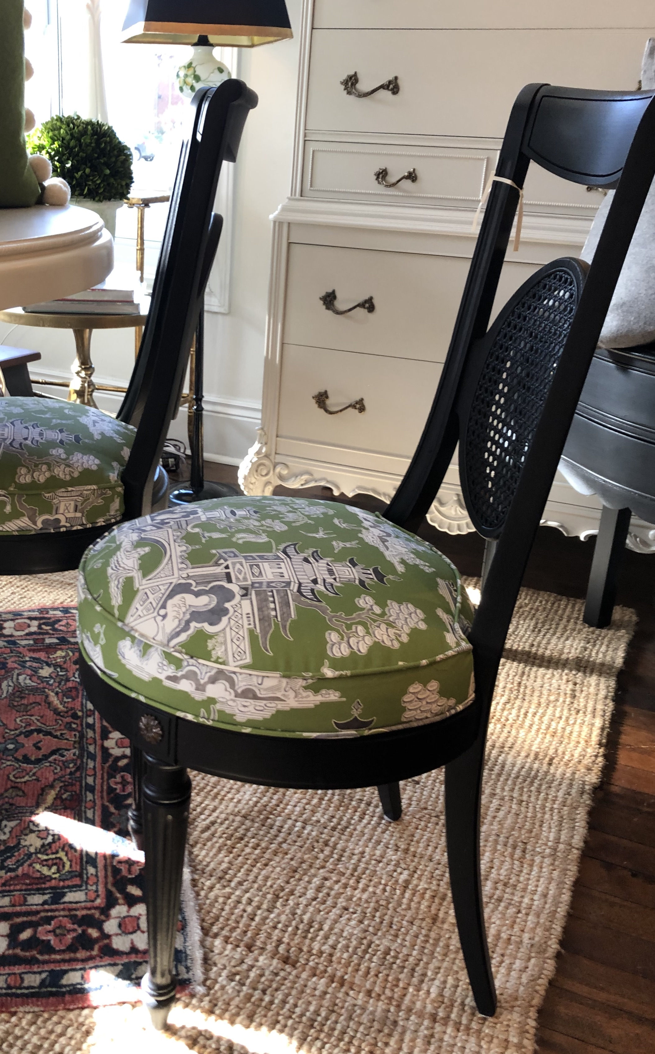 Painted and Reupholstered Vintage