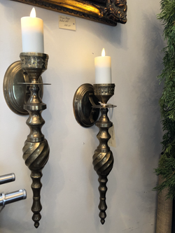 Vintage Brass Wall Sconces