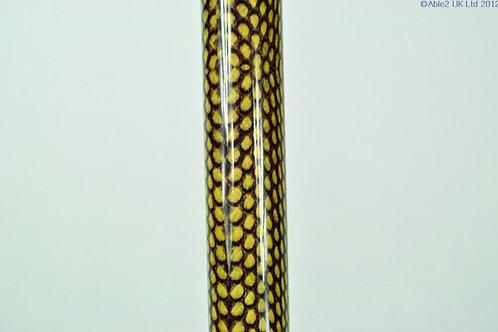 "Arthritis Grip Cane - Folding, adjustable, Right Handed - Snake (33-37"")"