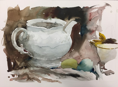 Watercolour Painting Demo Discussion