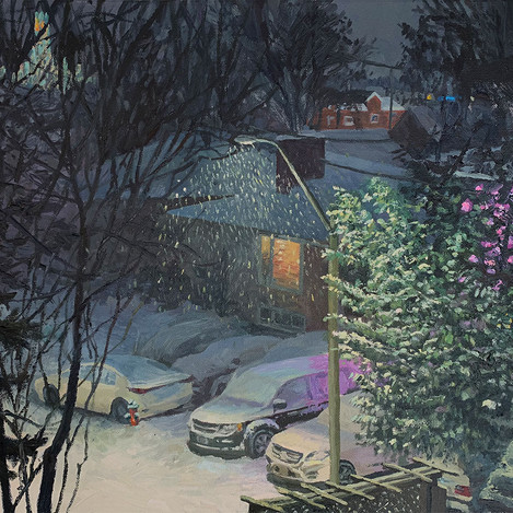 Snowy Nights and Christmas Lights