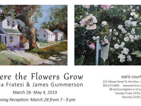 """New Exhibition March 28th - """"Where The Flowers Grow"""""""
