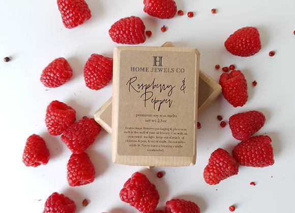Raspberry & Pepper Scented Wax Melts
