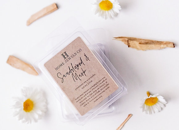 Sandalwood & Musk Scented Wax Melts