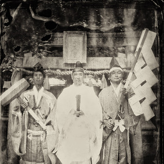 Shinto priest, Shiga, 2013