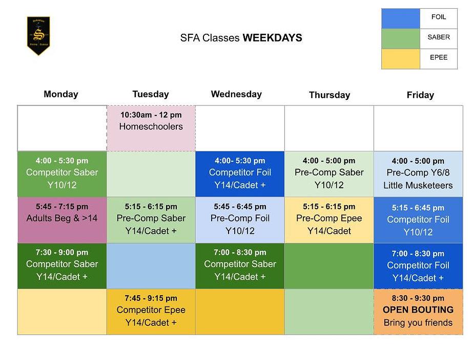 6. SFA Weekday Schedule UPDATED 04_03_21