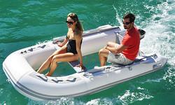 Transparent bottom inflatable boat