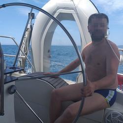 Transparent boat on transom