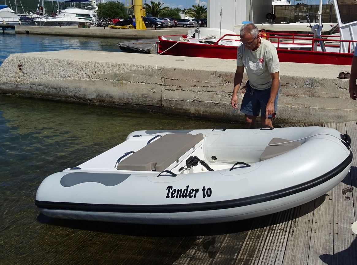 jetTENDER lightest jet power dinghy