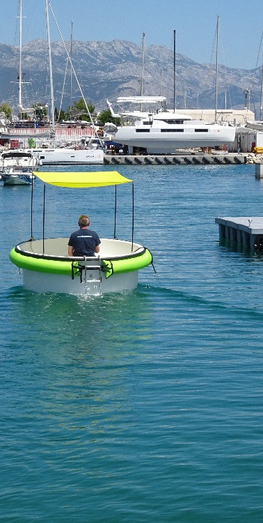 Round electric boat - HULA BOAT