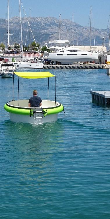 Round electric boat - HULA BOAT