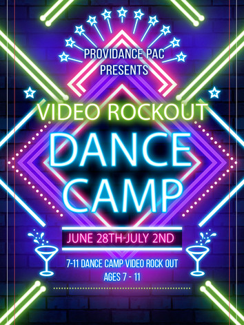 June 28th-July 2nd Ages 7-11 Dance Camp Video Rock Out