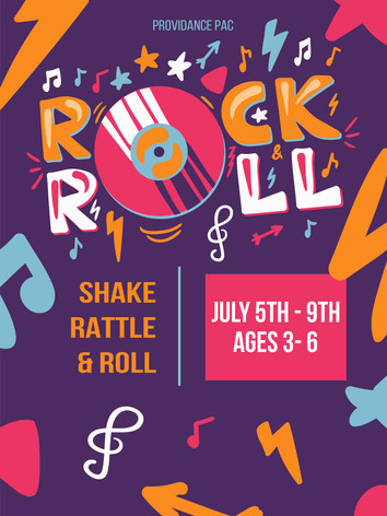 July 5th 9th Ages 3-6 Shake Rattle & Roll Dance Camp