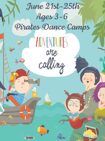 June 21st-25thAges 3-6 Pirates Dance Camps