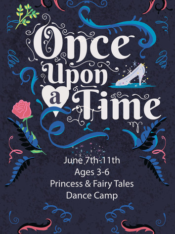 June 7th-11th Ages 3-6 Princess & Fairy Tales Dance Camp