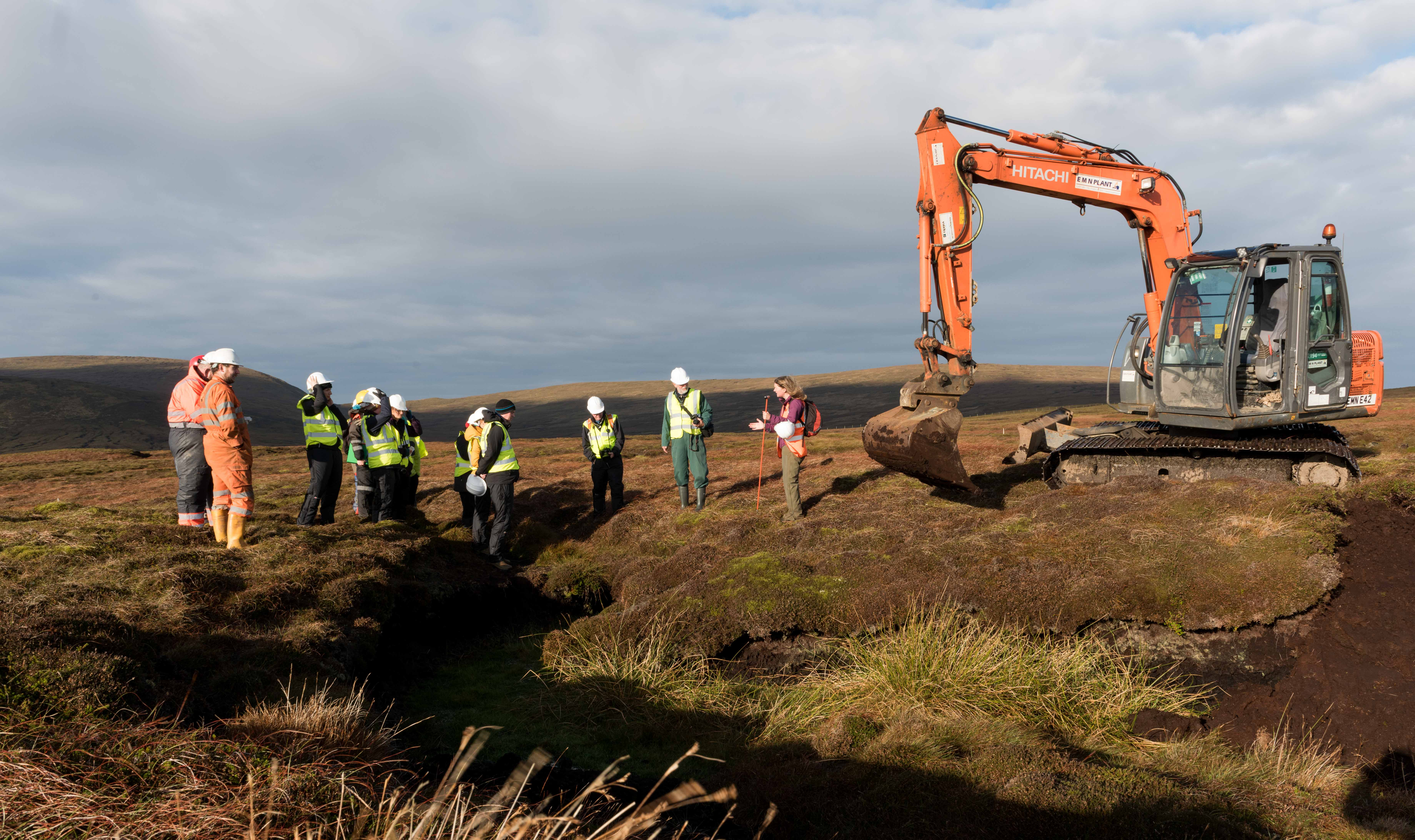Peatland Action restoration event - Cunn
