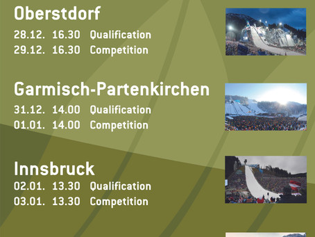 The program for the 69th Four Hills Tournament