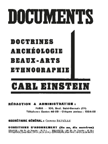 Documents: Carl Einstein | 1929-1930