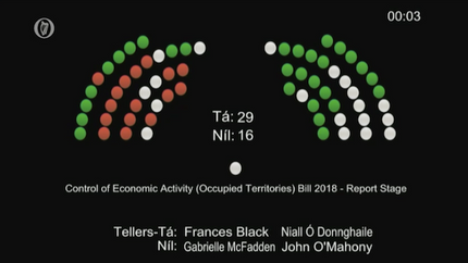 Occupied Territories Bill passes all stages in Seanad Éireann