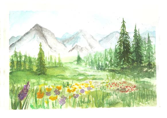 Spring Mountains - Acrylic