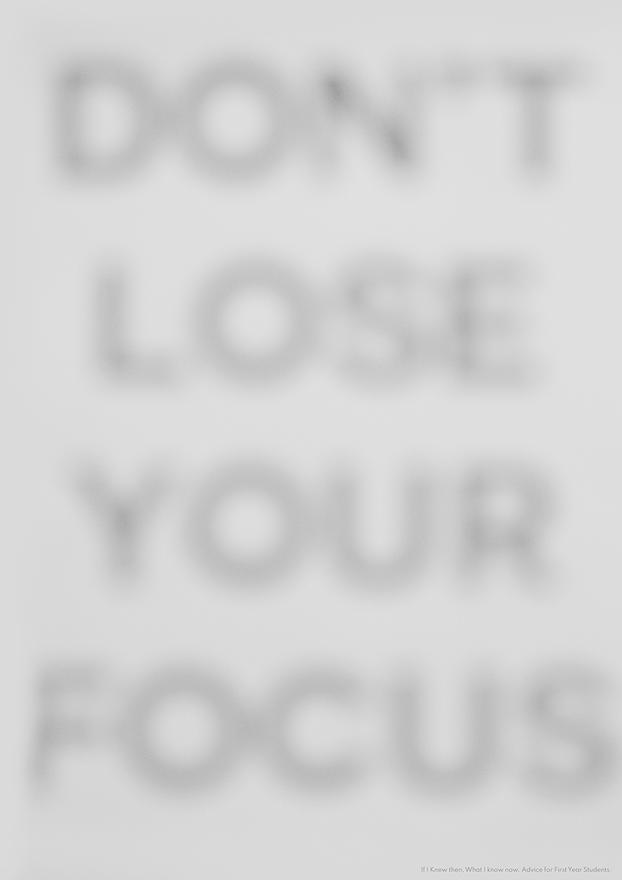Don't Lose Your Focus
