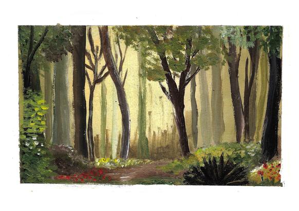 Forest Light - Acrylic