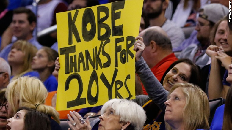 Thanks for 20 yrs Kobe