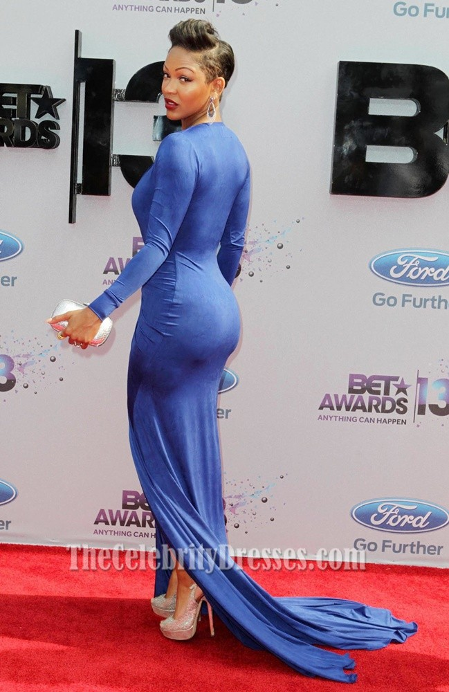 meagan_good_sexy_royal_blue_prom_dress_bet_awards_2013_red_carpet_4
