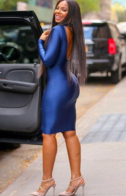Ashanti-Michael-Costello_Blue-Bodycon-Dress-Spotted-The-View