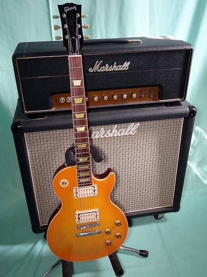 Gibson Les Paul Standard-Marshall 50w Head