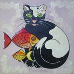 Gato con peces - 1