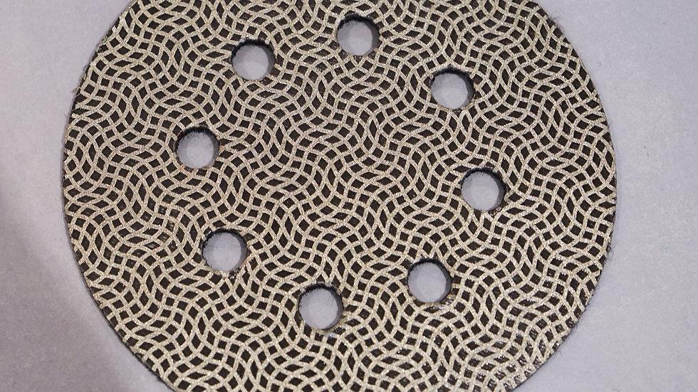 8 holes Diamond disc grit 120 / Diam-125 mm /Quadroflex