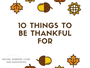 Top 10 things to be Thankful For