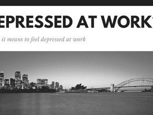 Feeling depressed when you're at work?