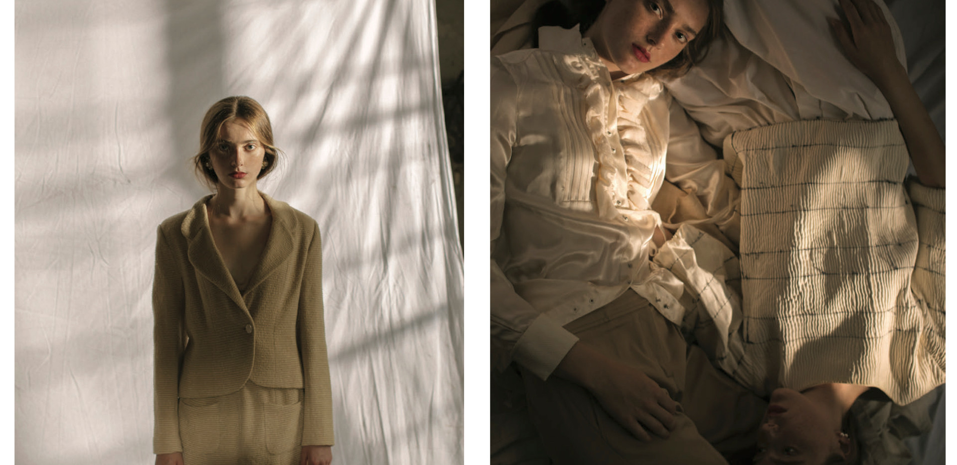 Photo: CAYETANO GONZALEZ  Stylist: ROMA LANSKY  Make-Up & Hair: ANA SANCHEZ-PEÑA  Models: DIANA AND ZHANNA PASKAR, YOO MODELS