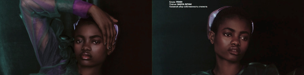 NUMÉRO RUSSIA 055 WOMEN EMPOWERMENT   Photograph: Fernando Gomez @fernandogomezphoto   Stylist: Alex Montoya @alexmontoyamartin   Make-up: Elena Martin @ele.namartin   Hair: Rosa Matilla by M.Ö.N Icon team and GHD @rosamatilla   Manicure: Rosa Matilla for OPI Spain @rosamatilla   Model: Elizabeth Ayodele @francinamodels @elizabethayodele_