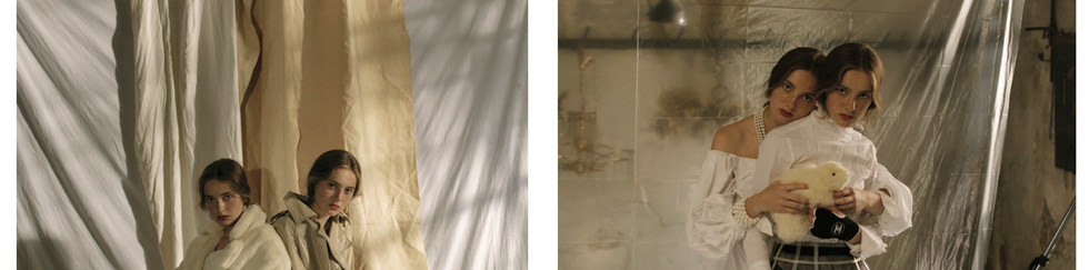 Photo: CAYETANO GONZALEZ  Stylist: ROMA LANSKY  Make-Up & Hair: ANA SANCHEZ-PEÑA  Models: DIANA AND ZHANNA PASKAR, YOO MODELS