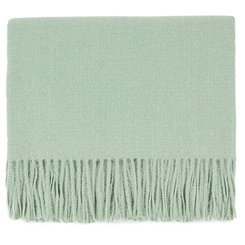 Edinburgh Throw Blanket - Seafoam