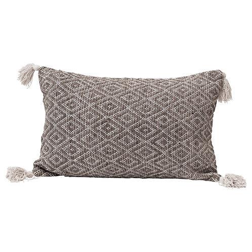 Diamond Pattern Woven Lumbar Pillow