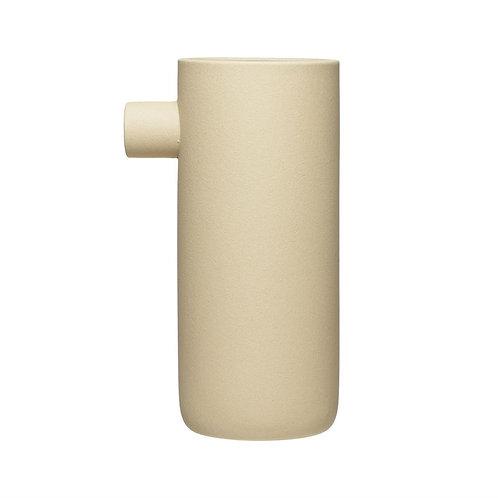 Matte Cream Stoneware Vase