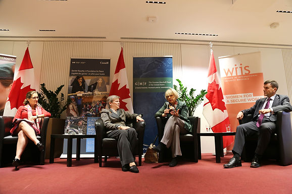 Women, Peace, and Security: A Conversation with the Honorable Chrystia Freeland, Rose Gottemoeller, Helga Schmid, and Simon Gimson