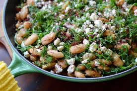 Beans & Goat Cheese Salad